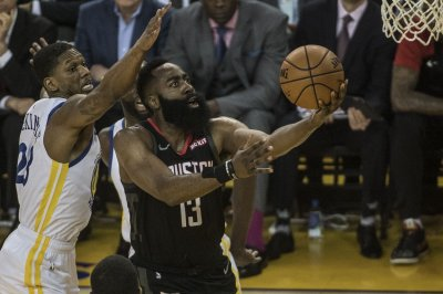 James Harden torches Golden State Warriors as Houston Rockets even series