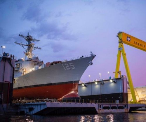 U.S. Navy launches first Flight III guided missile destroyer