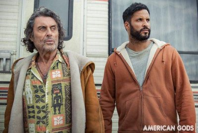 'American Gods': Ricky Whittle, Ian McShane appear in Season 3 photo