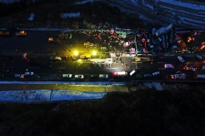 At least 17 dead in 56-car pile-up in China on icy road