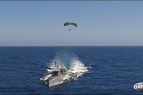DARPA demonstrates TALONS parasail mast system