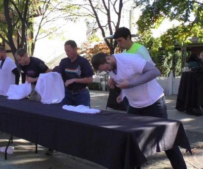 T-shirt passing world record set at Idaho company block party