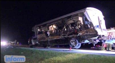 Four killed in college softball team bus crash in Oklahoma