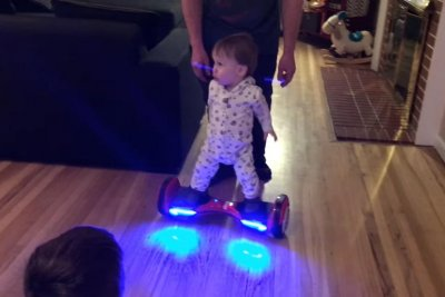 Utah 11-month-old rises to viral fame as 'The Hoverboard Baby'