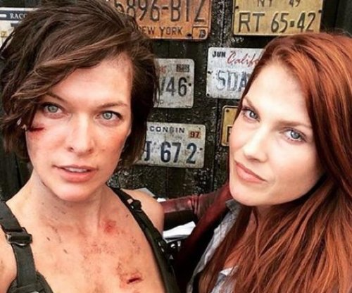 Milla Jovovich shares photos from 'Resident Evil' set