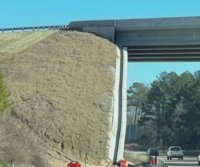 N.C. transport officials: Flyover bridge wall is not leaning, despite illusion