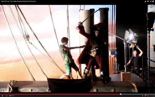 'Peter Pan Live!' trailer shows Allison Williams, Christopher Walken rehearsing
