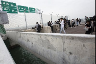 After years of construction, world's longest sea bridge set to open