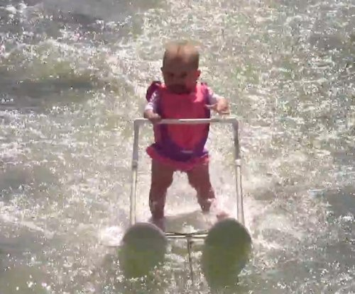 6-month-old girl becomes world's youngest water skier