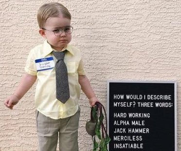 Jenna Fischer shares photo of toddler's Dwight Schrute Halloween costume