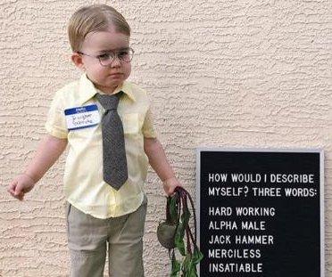 Jenna Fischer shares photo of toddler's Dwight Schrute Halloween costume
