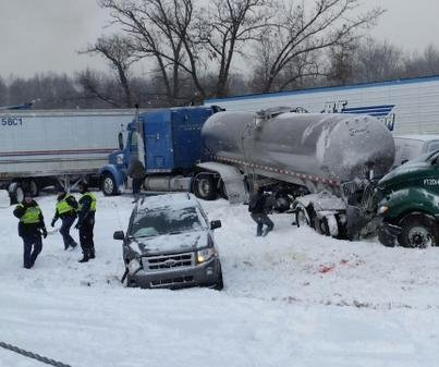 Fiery 150-car pileup in Michigan kills 1, shuts down I-94