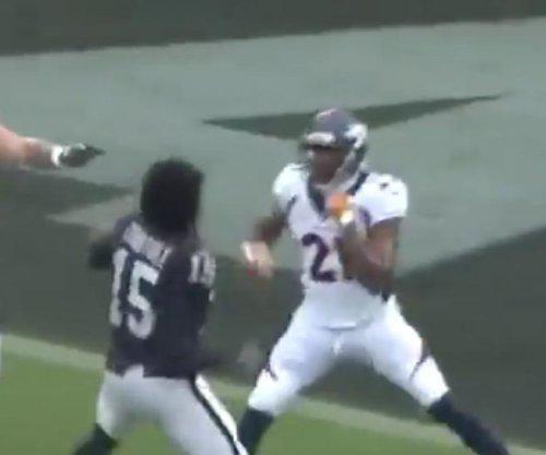 Raiders' Michael Crabtree breaks unwritten rule of NFL fighting vs. Broncos' Aqib Talib