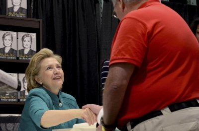 Hillary greets supporters on book tour