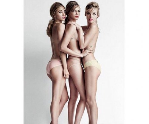 Suki Waterhouse, Cara Delevingne go topless for Vogue U.K.