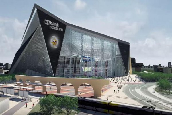 Construction Halted On New Vikings Stadium After Worker