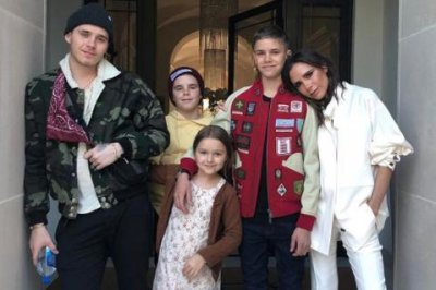 Victoria Beckham spends 'birthday eve' with her four kids