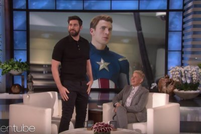 John Kraskinsi recalls Captain America audition on 'Ellen'