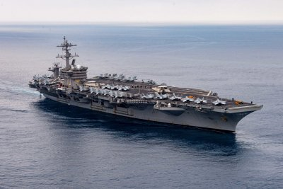 USS Carl Vinson, carrier strike group deploy from San Diego