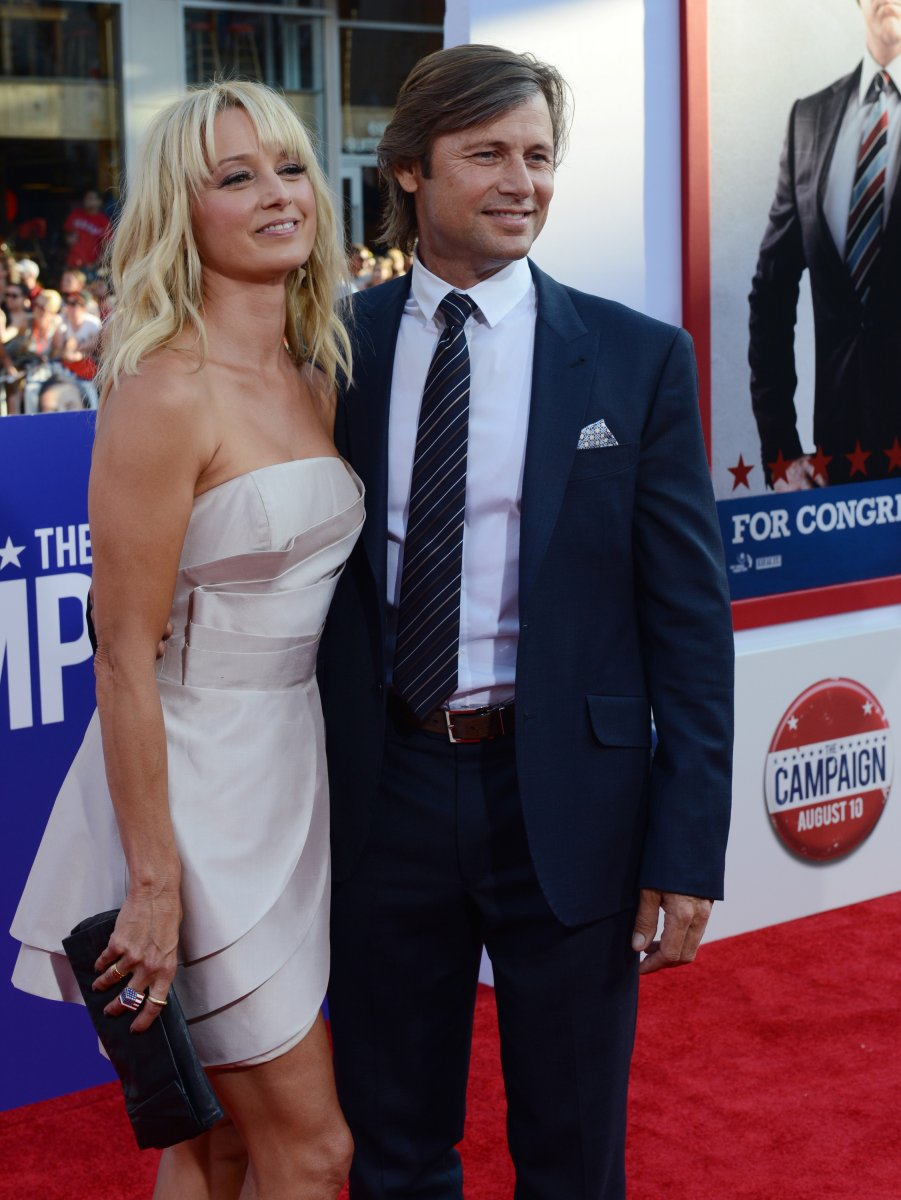 melrose place actor grant show and wife katherine lanasa welcome