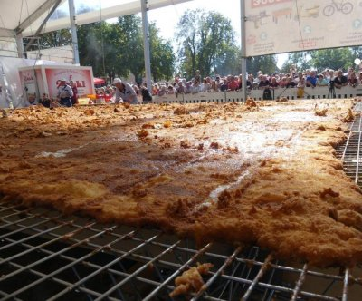 Record-breaking 2,663-pound schnitzel cooked up at German festival