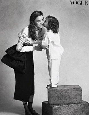 Miranda Kerr's son makes modeling debut in Vogue Australia spread