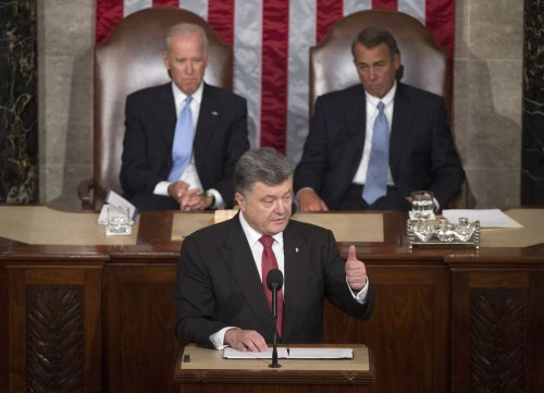 Ukraine's President Poroshenko addresses joint session of U.S. Congress