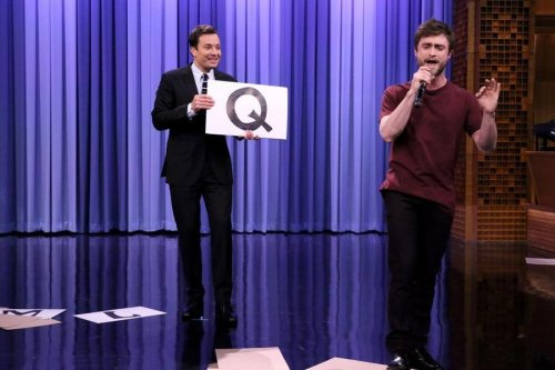Daniel Radcliffe raps 'Alphabet Aerobics' on 'Tonight Show'