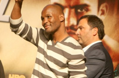 Bernard Hopkins gets knocked out of ring in last fight