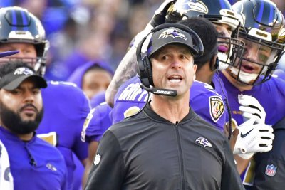 Ravens coach John Harbaugh happy with QB trio