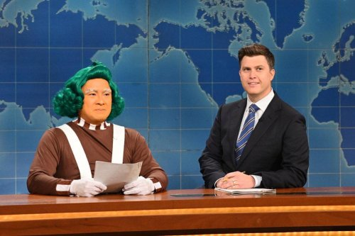 Bowen Yang plays gay Oompa Loompa outed by Colin Jost on 'SNL'