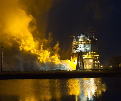 Watch NASA test the newest space launch system rocket engine