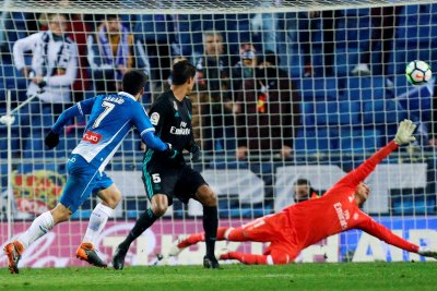 Real Madrid loses to Espanyol in stoppage time