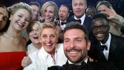 Degeneres' star-studded selfie breaks Twitter record