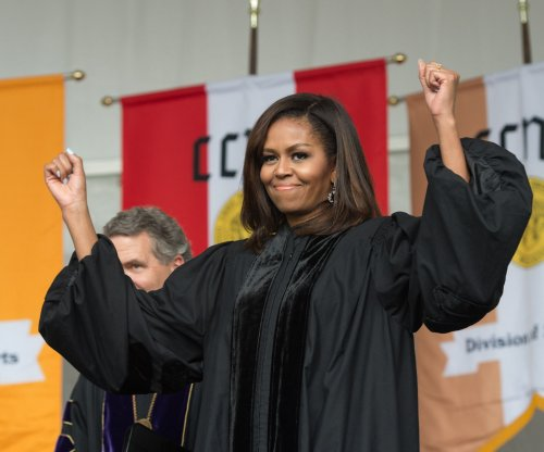 First lady fires up students, knocks GOP during final collegiate keynote in N.Y.C.