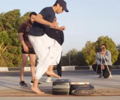 Egyptian athlete breaks world record for aerobic step-ups