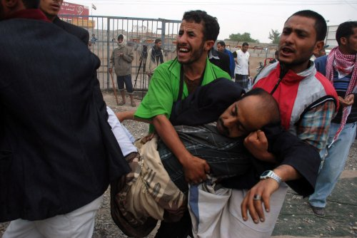 Continuing violence in Yemeni city