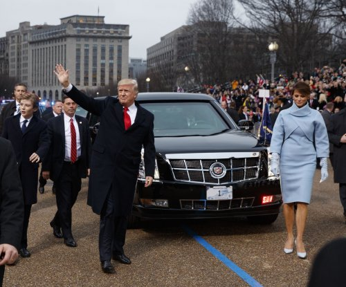 Donald Trump arrives at Capitol for swearing-in ceremony