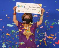 Woman wins $47M lottery jackpot with numbers from husband's dream