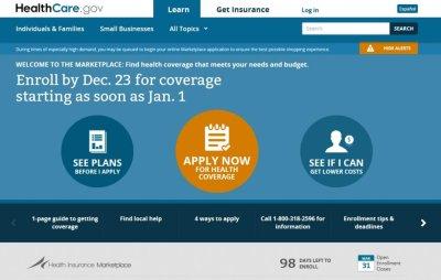 About 1 million got health insurance via HealthCare.gov in December