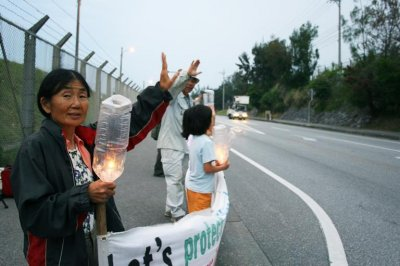 Elderly women on Okinawa unite against plans to move U.S. military base