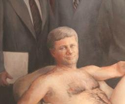 Canadian man wins painting of nude prime minister in online auction