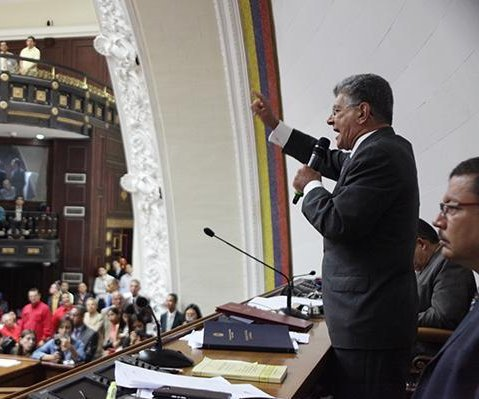Venezuelan parliament leader rejects negotiations with Maduro