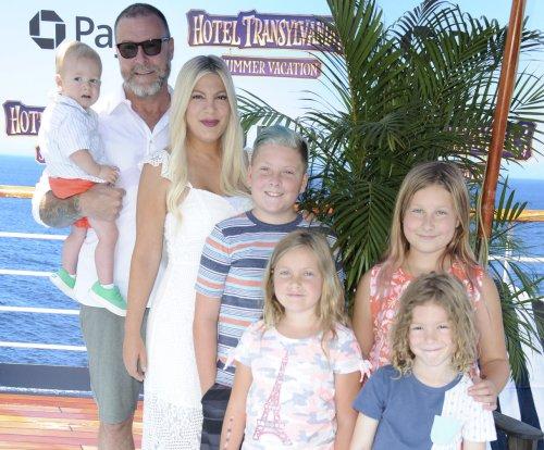 Tori Spelling, Kendra Wilkinson bring their kids to 'Hotel Transylvania 3' premiere