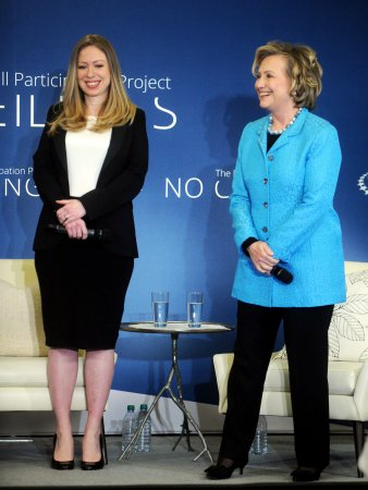 Bill and Hillary Clinton respond to Chelsea's baby news