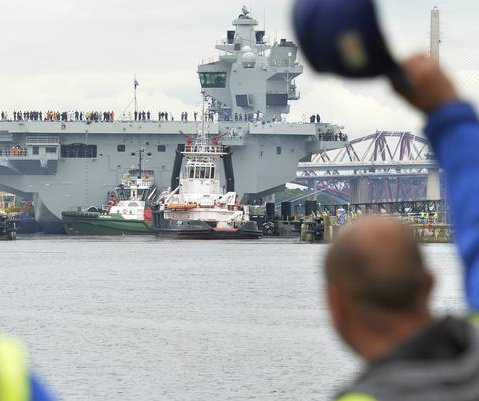 New British carrier enters sea trials