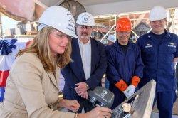 Keel laid for new Coast Guard cutter Calhoun