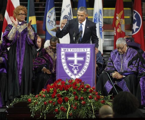 Obama at Pinckney funeral: 'The nation shares your grief'