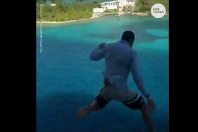 Cruise passenger banned after jumping from boat