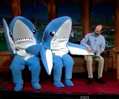 John Mayer hosts 'Late Show' with Super Bowl sharks as guests